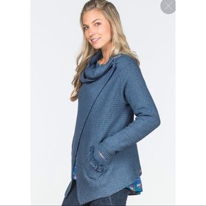 MJ Envision This Knit Cowl Poncho Wrap Sweater